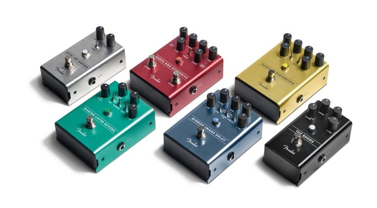 Fender's new pedal lineup for 2018