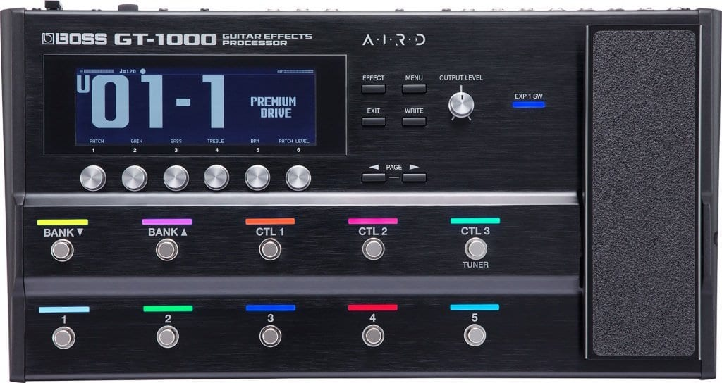 Boss GT-1000 coloured controls