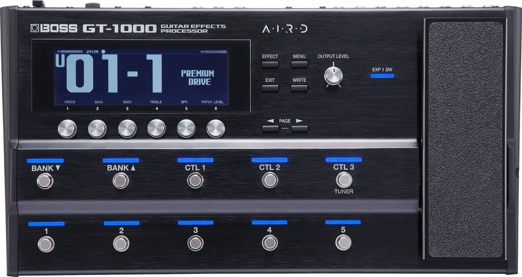 Boss GT-1000 fornt panel
