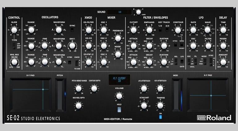Momo Muller SE-02 MIDI editor