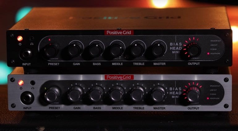 Positive Grid Bias Mini Bass and Guitar heads