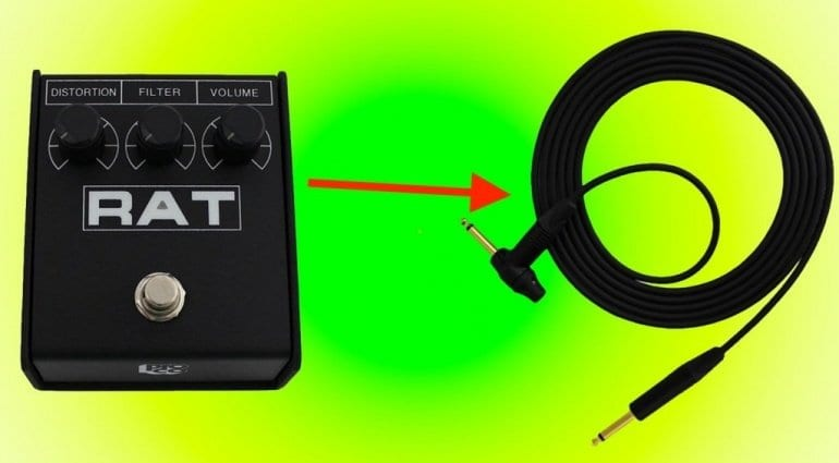 ProCo Rat Tail distortion in a guitar cable