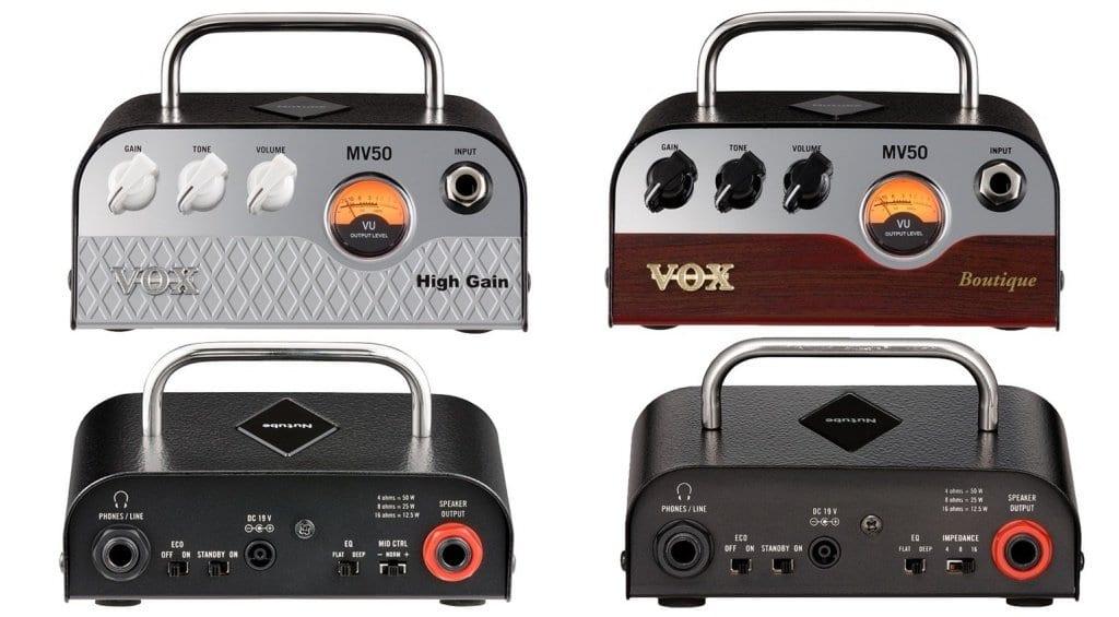 Vox MV50 High Gain and Boutique 50 watt mini heads