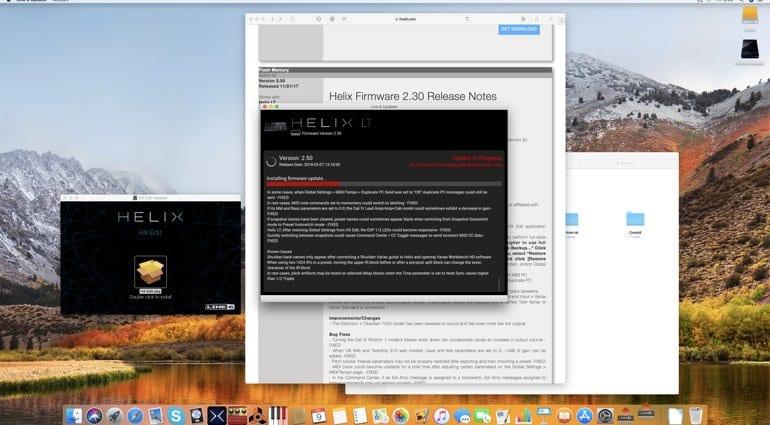 Line 6 Helix Updater 2.5 firmware install