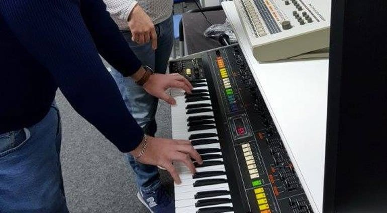 Behringer and a Jupiter 8
