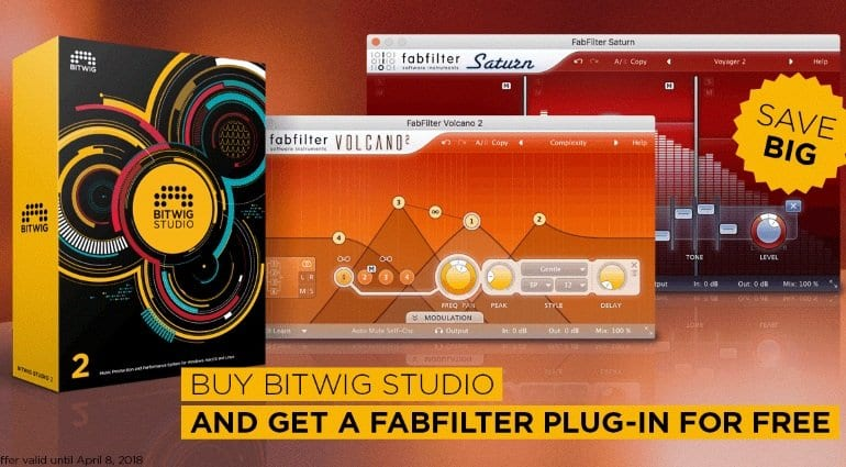 Bitwig FabFilter promo