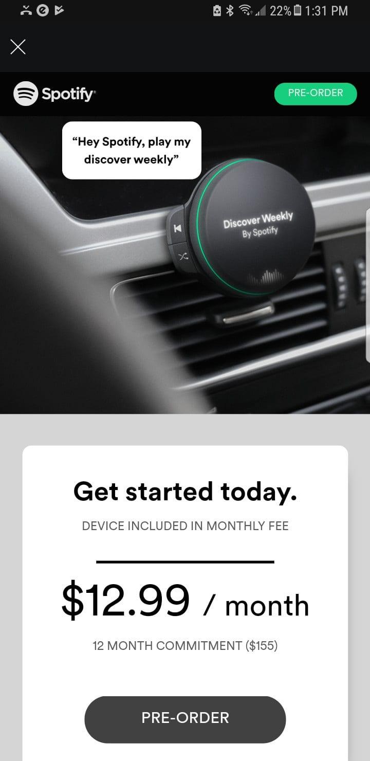 Spotify Car Audio