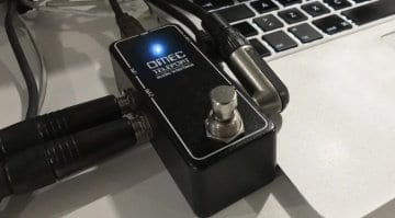 Orange Omec Teleport USB audio interface pedal