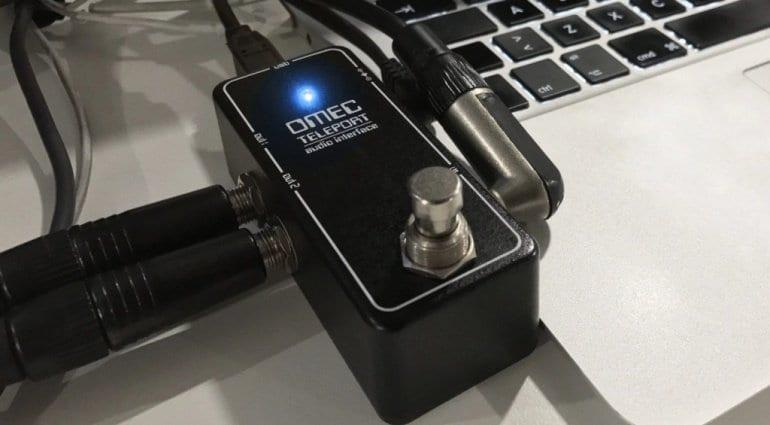 Orange Omec Teleport USB audio interface pedal