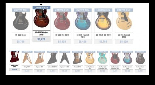 Gibson 2019 lineup leaked