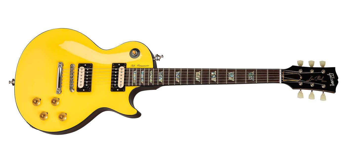 Gibson Tak Matsumoto in Canary Yellow