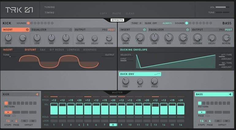 TRK-01 effects parameters