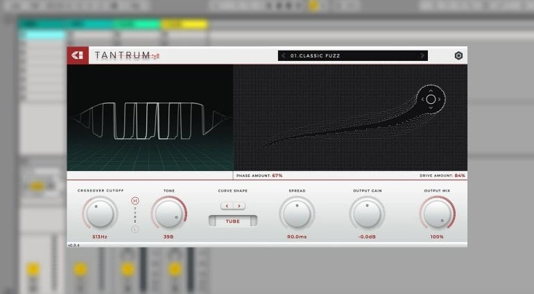 Tantrum distortion in DAW