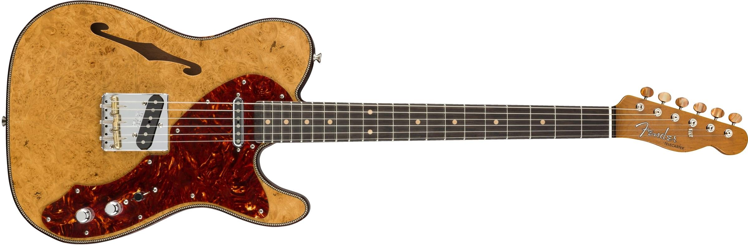 Fender Custom Shop 2018 Limited Edition Artisan Maple Burl Thinline Telecaster