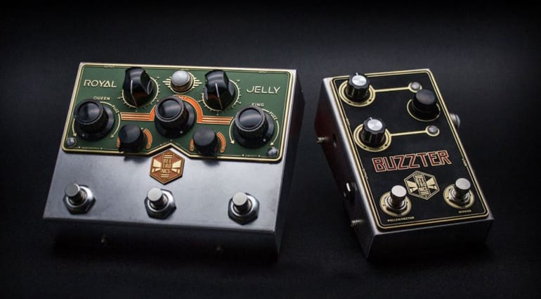 Beetronics Royal Jelly and Buzzter pedals