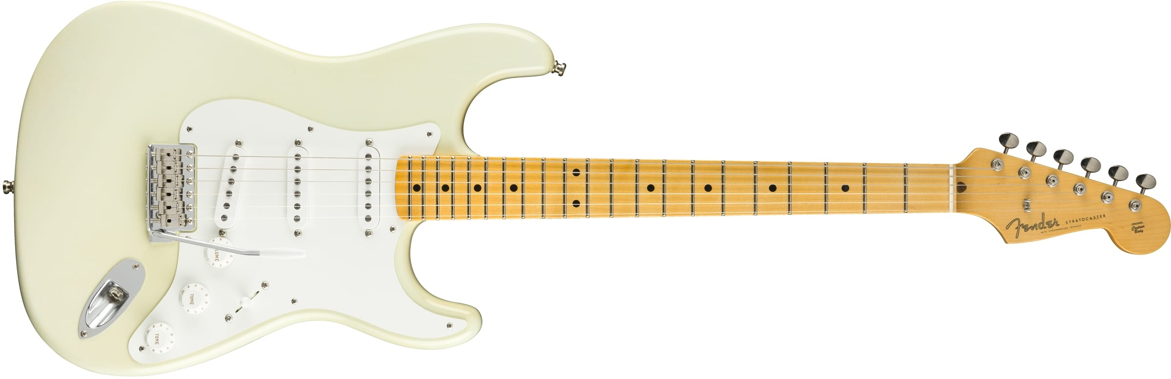 Fender Custom Shop Jimmie Vaughan Stratocaster in Aged Olympic White