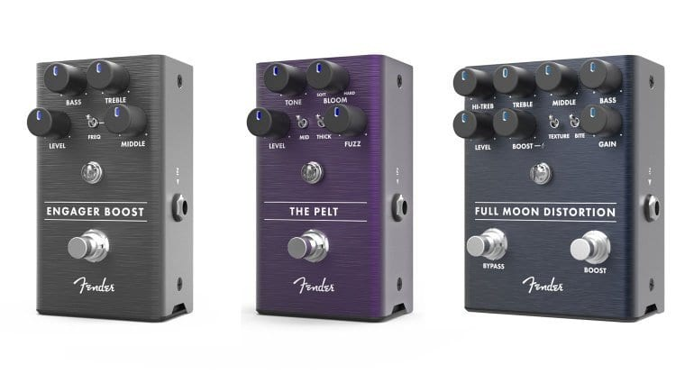 Fender Engager Boost, The Pelt Fuzz and Full Moon Distortion