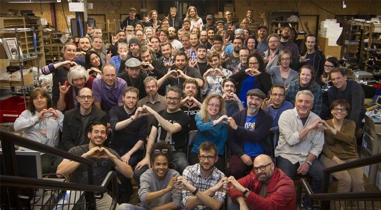 Staff at Moog Music