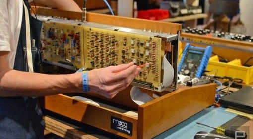Moog Model D internals