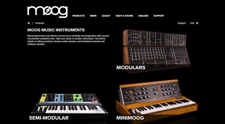 Moog product page