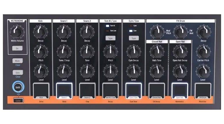 Arturia DrumBrute Impact instruments