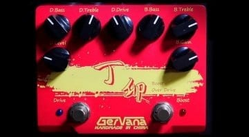 Gervana Ding Mao dual boost/OD pedal