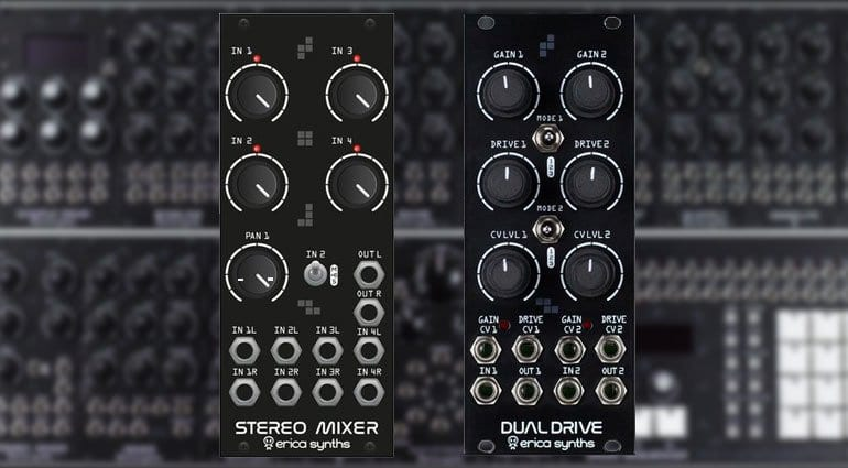 Erica Synths Dual Drive and Drum Stereo Mixer
