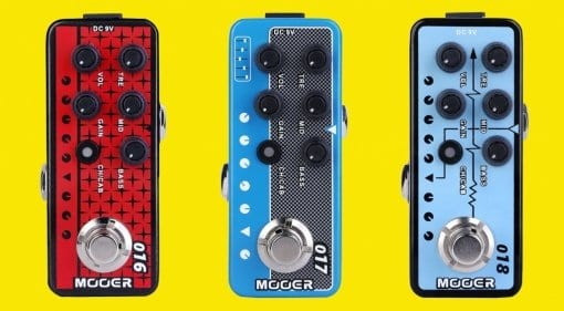 Mooer Micro Preamp pedals - Phoenix, Cali-MkIV and Custom 100