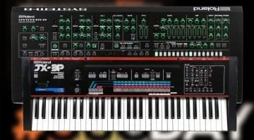 Roland System-8 and JX-3P