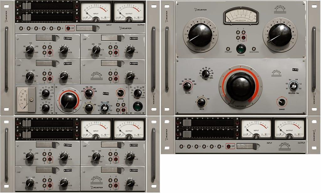 Acustica Audio Viridian Bundle Vintage Effects Plugin screenshot