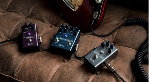 Fender Engager Boost, Pelt Fuzz, and Full Moon Distortion Pedals