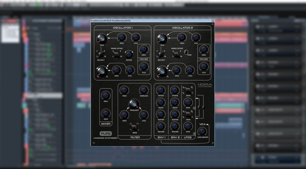 Hora Music's Pure Mono free synth
