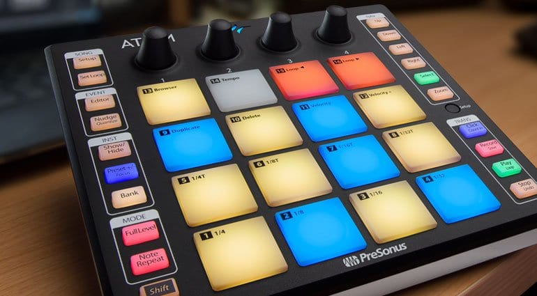 The ATOM: small but mighty performance pad controller from PreSonus