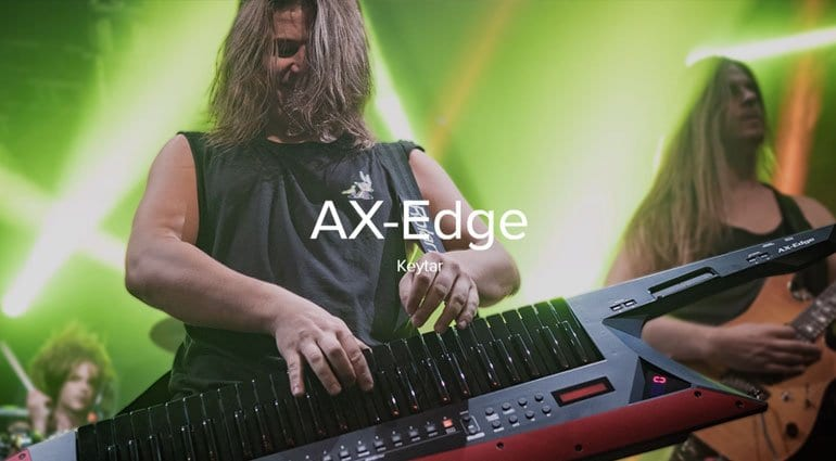 Roland's AX-Edge keytar with custom blades couldn't be more