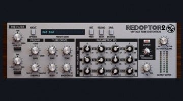 D16 Redpoter 2 Tube Distortion Plug-in GUI front