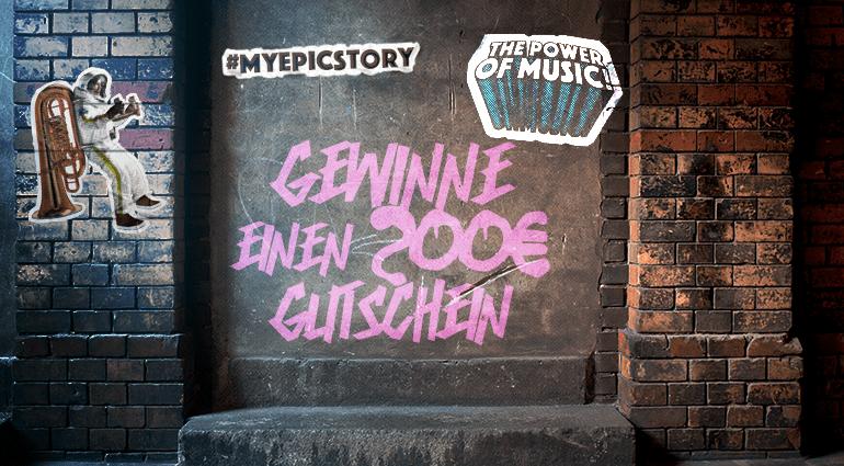 #MyEpicMusicStory Competition: win a €200 thomann voucher
