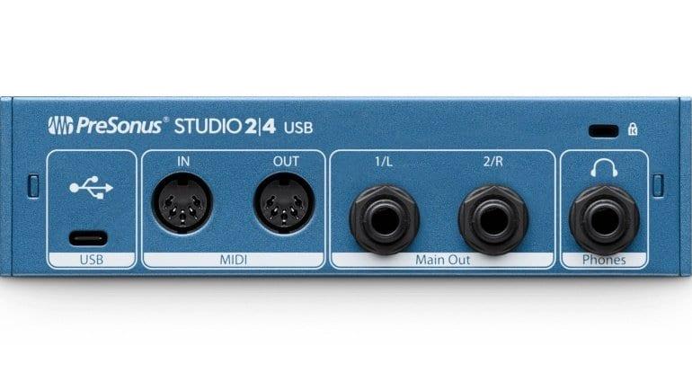 PreSonus Studio 24 USB Back
