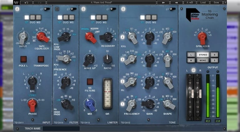 Waves Abbey Road TG Mastering Chain in ProTools