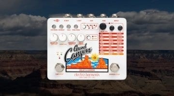 Electro Harmonix Grand Canyon delay and looper pedal
