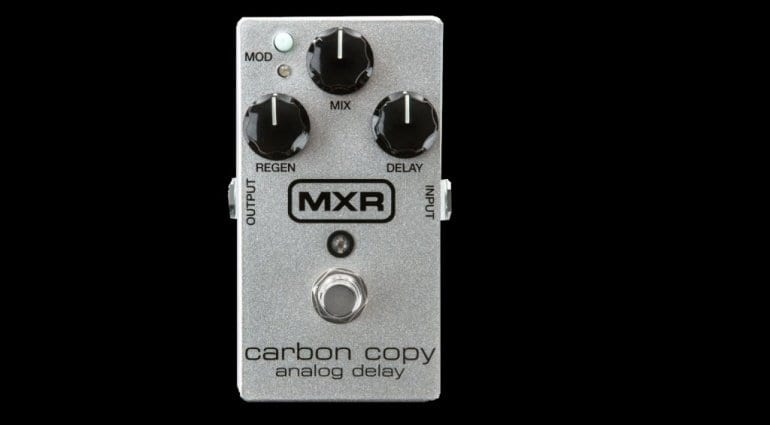 delay MXR Carbon Copy 10th Anniversary Edition pedal