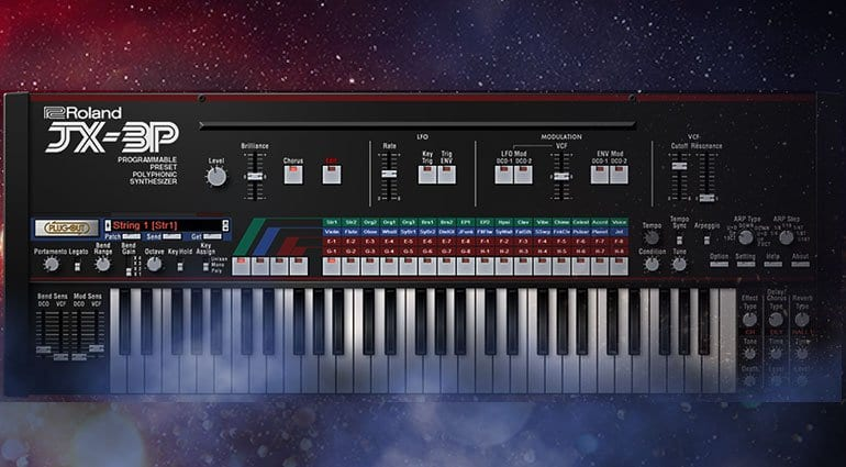 JX-3P now available as a software synthesizer in Roland's