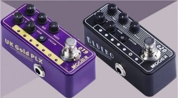 Mooer UK Gold PLX and Blueno Micro Preamp pedals