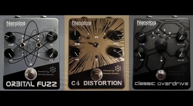 Nanolog Audio Carbon Series Orbital Fuzz, C4 Distortion and Classic Overdrive