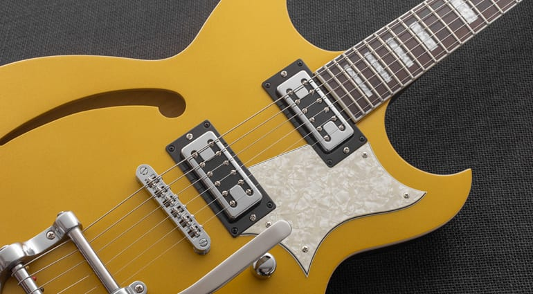 Reverend Guitars Tricky Gomez in Venetian Gold