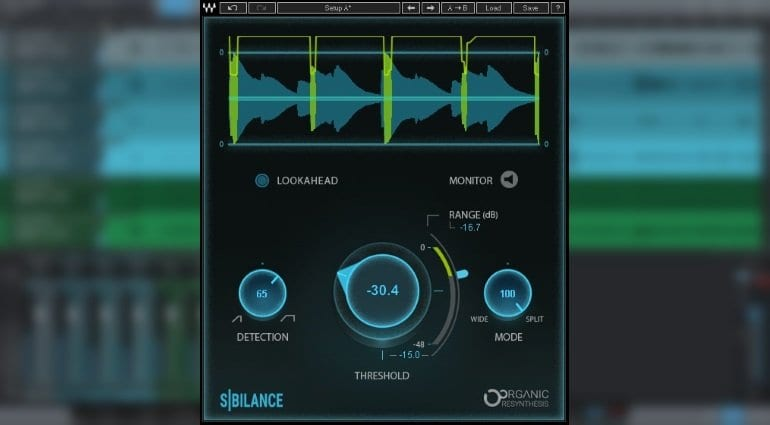Waves Sibilance plug-in