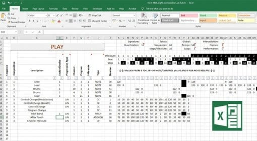 Excel MIDI