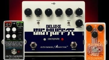 Electro Harmonix Sovtek Deluxe Big Muff Pi, Nano Battalion & Flatiron Fuzz