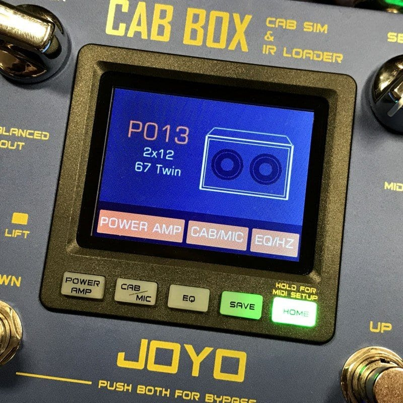 Joyo Cab Box screen
