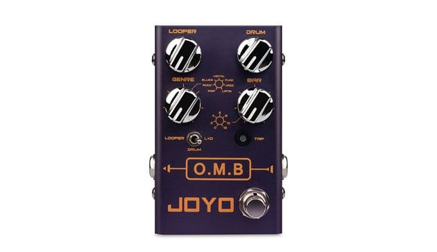 Joyo O.M.B has a Looper and Drum patterns in one pedal