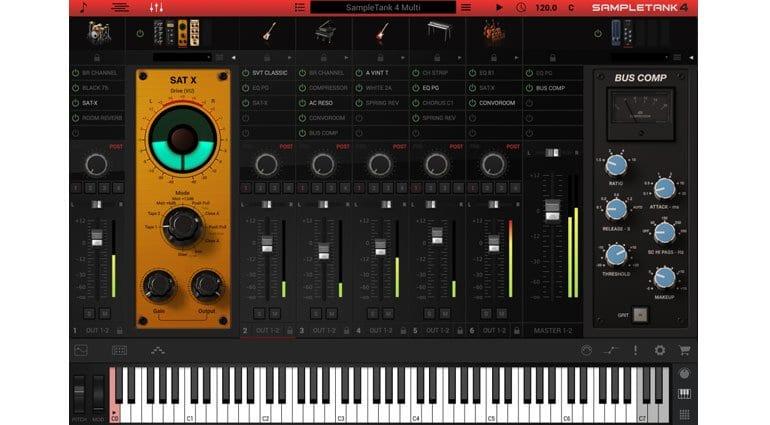 SampleTank 4 mixer